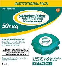 Serevent Salmetrol diskus 50mcg/dose  GSK 60 Inhalation caps