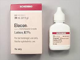 Elocon Mometasone furoate 0.1% (Brand) Schering 4X15ml Lotion