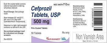 Cefzil Cefprozil 500mg BMS 24 Tablets