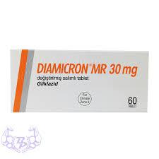 Diamicron Gliclazide 30mg MR  Servier 120 Tablets